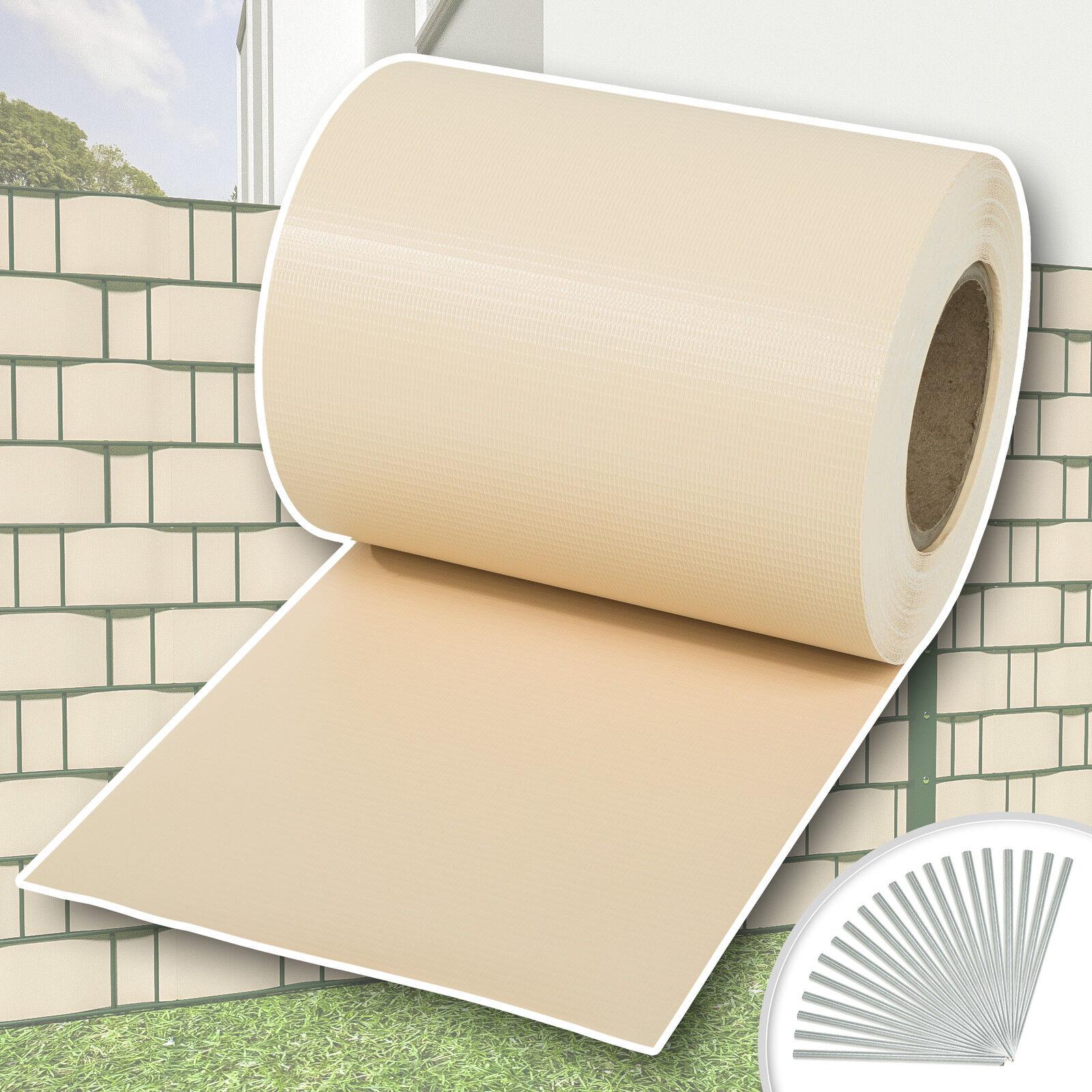Rouleau 35mx19cm PVC brise-vue pare-vent pour clôture terrasse jardin crème