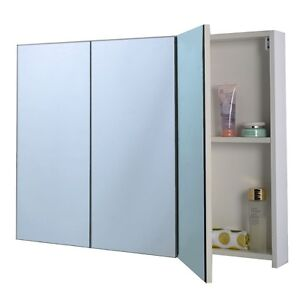 bathroom wall cabinet with mirrored door 3 mirror door 36 quot 20 quot wide wall mount mirrored bathroom 25018