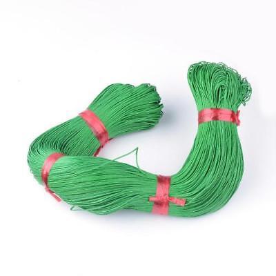 LIME GREEN WAXED COTTON CORD 10m x 1mm Shamballa Macrame Jewellery Making