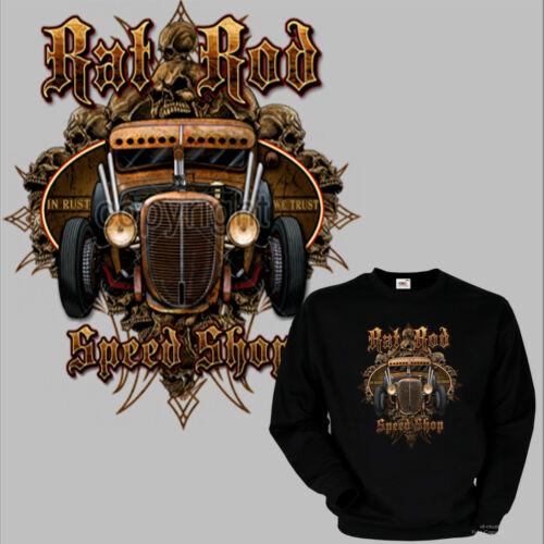 * Felpa Kustom Hotrod Kustom garage v8 Vintage Pullover Auto Gearhead 1077