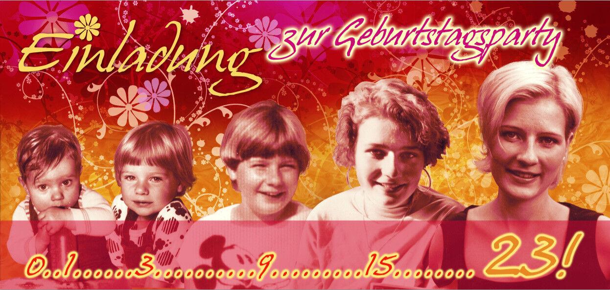 Einladungskarten Geburtstag, Klappkarten personalisiert – Timeline