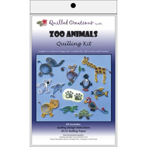 Paper Quilling Kit ZOO ANIMALS Elephant Giraffe Monkey Quilled Creations 402