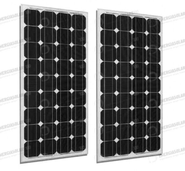 Set 2 x Pannelli Solari Fotovoltaico 300W 24V tot. 600W Casa Baita Stand-Alone c