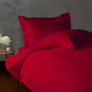 Extra-Deep-POCKET-1000-TC-1-pc-Fitted-Sheet-Egyptian-Cotton-All-Size-BLOOD-RED