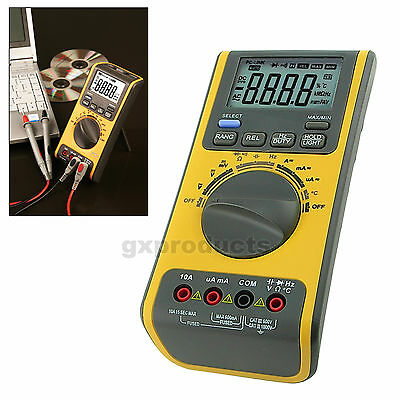 Digital Multimeter Voltmeter Thermometer Ohm USB CD °C Capacitance Resistance