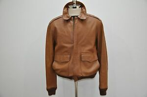 letter man jacket polo ralph lambskin leather type a2 flight bomber 14138 | s l300