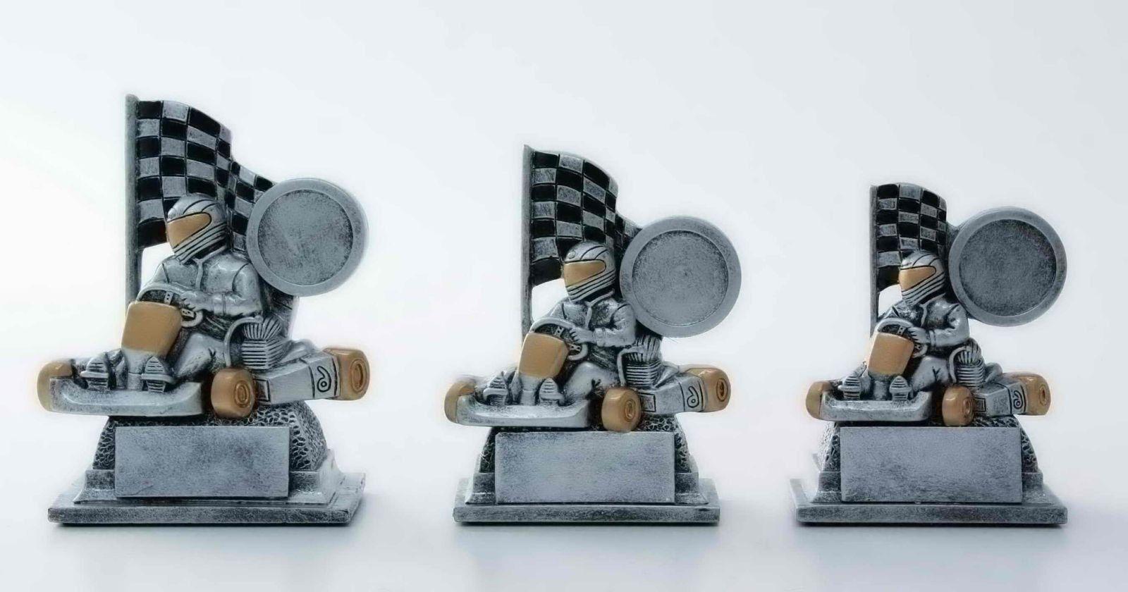 12 Motorsport Figuren aus Resin Kart 10cm (Kartbahn Pokal Pokal Pokal Rally  Pokale Gravurl) b7c8ca