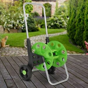 50m 60m Garden Hose Pipe Reel Holder Trolley Cart Portable