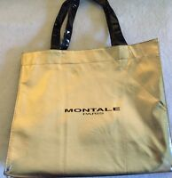 Authentic Montale Shopping Tote Bag Metallic Gold & Black Side Panels From Paris