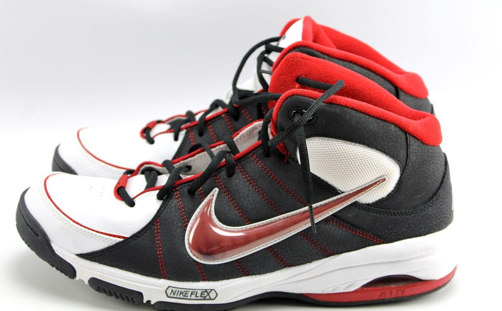 Nike Air Team Trust III Black Red White Basketball Shoes Men 12