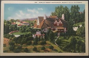 Home-Of-Robert-Montgomery-Beverly-Hills-California-Vintage-Postcard-D78
