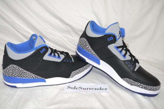on sale caa81 27e76 Air Jordan 3 Retro Sport Blue - CHOOSE SIZE - 136064-007 OG Bred White