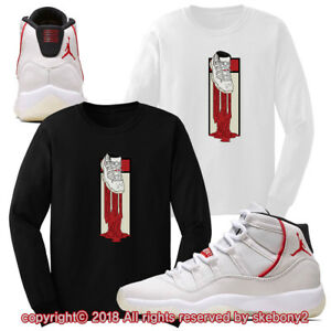 2c404e1a111222 CUSTOM T SHIRT MATCHING STYLE OF Air Jordan 11 Platinum Tint JD 11-4 ...
