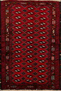 Nomadic-Geometric-Balouch-Afghan-Oriental-Area-Rug-Wool-Hand-Knotted-3x5-Carpet