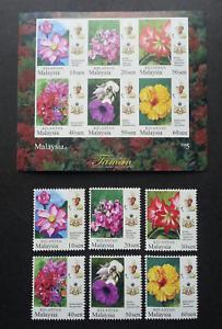 SJ-Malaysia-Garden-Flowers-Definitive-Kelantan-Sultan-2018-stamp-ms-MNH