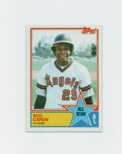 1983 Topps Rod Carew Baseball Card #386 - Minnesota Twins HOF