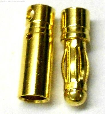C0401 Rc Connettore 4mm 4.0mm Placcato Oro Maschio E Femmina Bullet Banana X 1 Buona Conservazione Del Calore