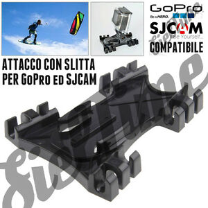 PER GoPro HERO 3 3+ 4 5 6 7 8 BLACK SILVER SJCAM ACCESSORI KITE SURF LINE MOUNT
