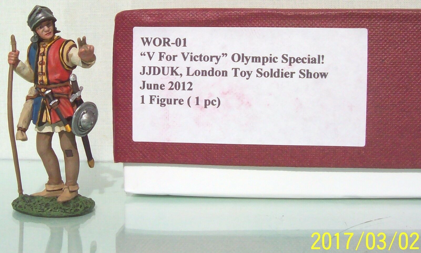 JOHN JENKINS 2012 LONDON TOY SOLDIER SHOW WOR-01 MEDIEVAL OLYMPIC SPECIAL MIB