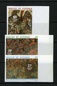 Wallis-et-Futuna-Stamps-242-4-XF-OG-NH-Imperf-Set