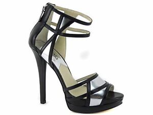 8e181aa34b9 Michael Kors Women s Jaida Dress Platform Sandals Black Silver ...