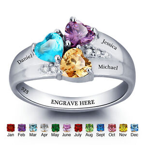 Personalized-Family-Rings-Mother-039-s-Birthstone-Name-Ring-Anniversary-Gift-Ideas