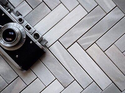 Grey Marble Herringbone Tiles Selected Marble Mosaic Wall Floor