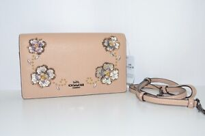 eb4e538f76298 Image is loading NWT-Coach-Hayden-Foldover-Crossbody-Clutch-With-Leather-