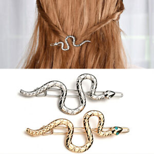 Punk-Snake-Shape-Hairpins-Women-Gold-Silver-Metal-Hair-Clips-Barrettes-Hairband