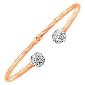 CRYSTALUXE-Bangle-Bracelet-avec-cristaux-Swarovski-14K-Or-Rose-Argent-Sterling