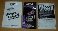 EPYX  FAST LOAD CARTRIDGE   1984  1985  INSTRUCTIONS AND CATALOG  COMMODORE 64