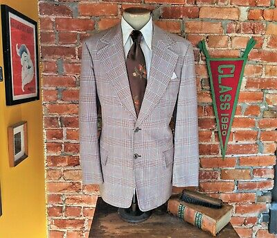 Vintage Haggar LEISURE SUIT JACKET~Brown Polyester~Size 42Large