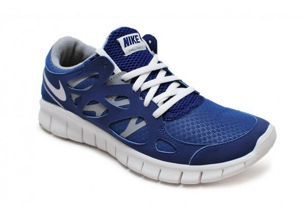 Womens nike free-run + 2 EXT - 536746-410 - royal bluee white grey sneakers