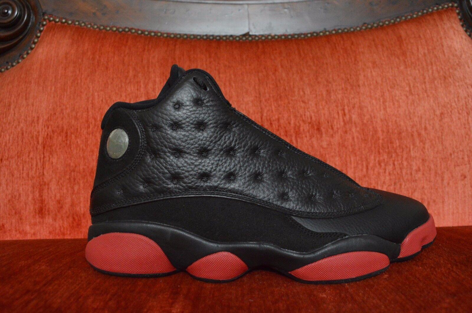 NIKE AIR JORDAN 13 XIII RETRO Dirty Bred Black Gym Red Nike 414571-003 Size 11
