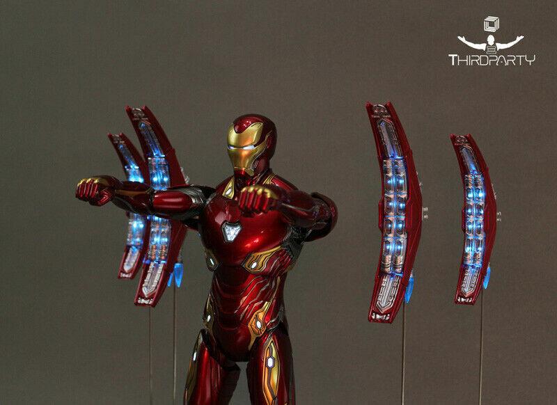 1 6 Led Iron Man mecha flotante pistola Embudo láser de energía Smasher Fit 12  figura