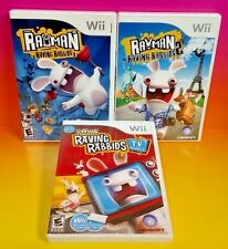 Rayman Raving Rabbids 1 + 2, + Rabbids TV Party - Nintendo Wii 3 Game Bundle