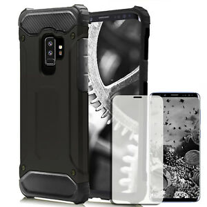 Pour-Samsung-Galaxy-S9-etui-portable-en-verre-trempe-Full-Cover-Tough-Shell