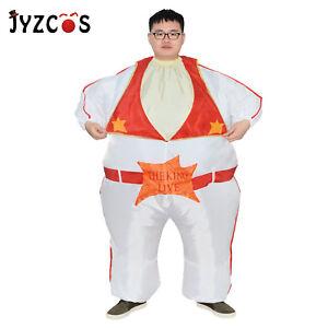 Elvis Halloween Costume Adult White Jumpsuit Fancy Dress