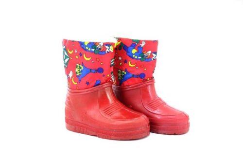 Kids Unisex Clown Red Half Wellington Storm Moon Thermal Boots