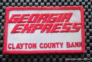 GEORGIA-EXPRESS-CLAYTON-COUNTY-BANK-EMBROIDERED-SEW-ON-PATCH-4-034-x-2-1-4-034