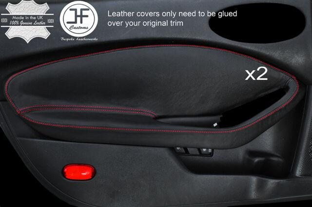FITS ALFA ROMEO GTV LEATHER 2X DOOR HANDLE COVERS black