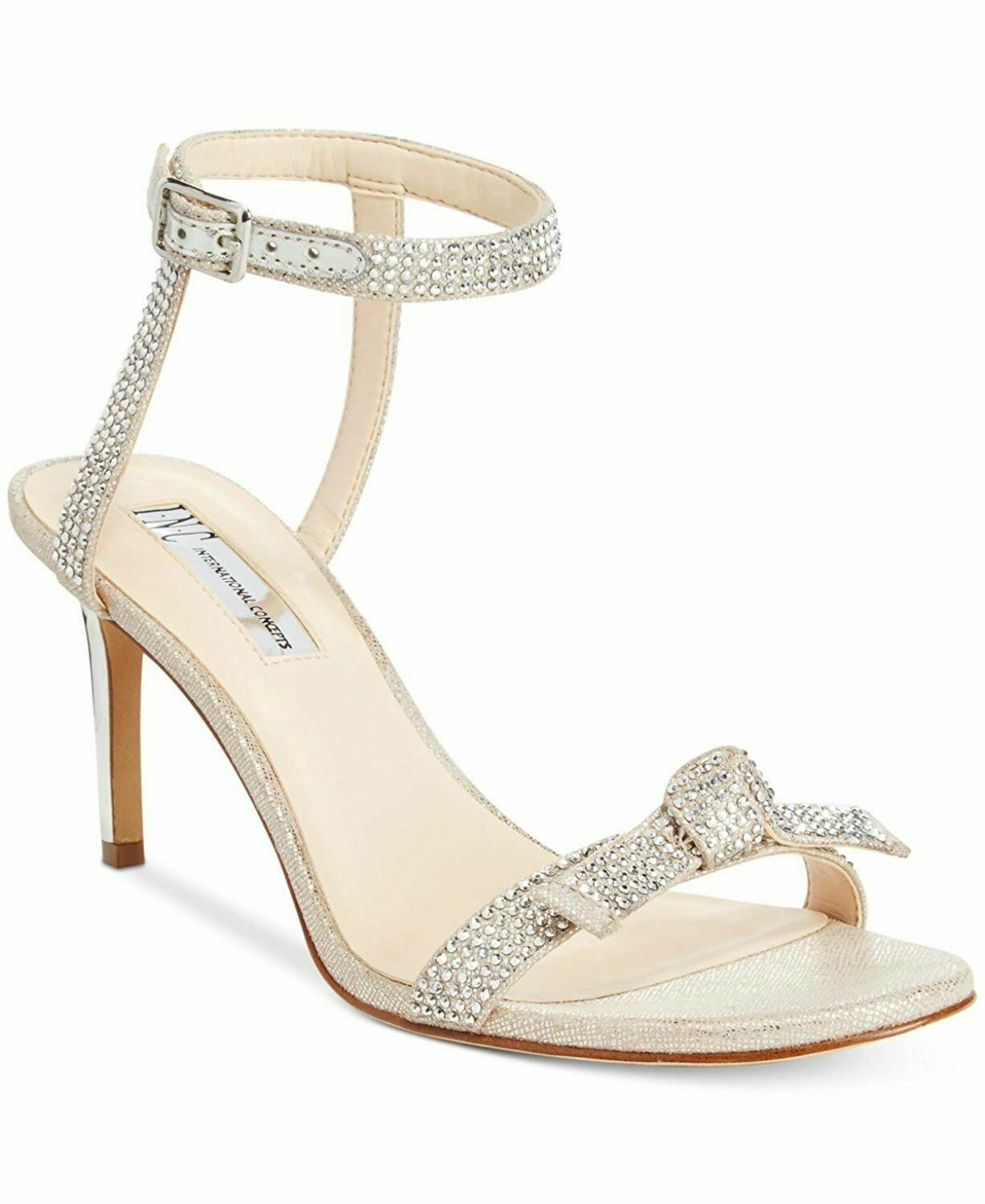 INC International Concepts Laniah Womens Heeled Sandals Nude New Box US 5   UK 3