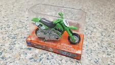 NIB New-Ray Power Up Mini Dirtbike Pull-Back Toy, Green