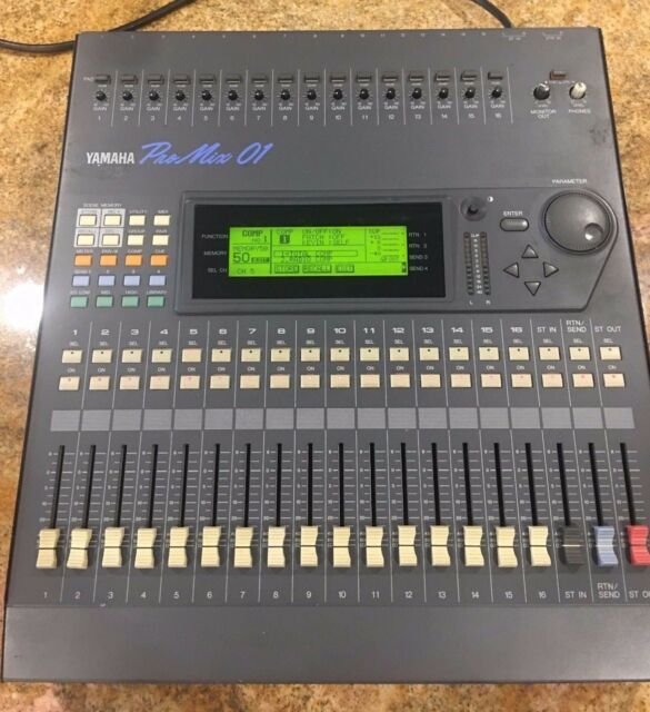 Yamaha Pro Mix 01 Digital Audio Mixer 16 Control Channels TESTED & WORKING