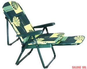 Sedia A Sdraio Con Poggiapiedi.Dettagli Su Poltrona Sedia Sdraio Tropea 7 Posizioni Con Poggiapiedi Mare Spiaggia Piscina