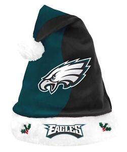 7ca122958 Image is loading NFL-Philadelphia-Eagles-Holiday-Christmas-Santa-Hat