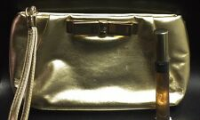 Victoria Secret Glamour Gold Clutch Makeup Bag & Vanilla Lace Fragrance Spray