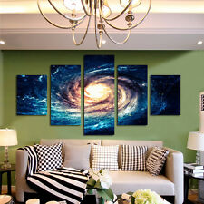 Galaxy Milky Way Universe Wall Art Paintings Living Room Decor Pictures Framed