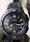 Casio AQ-S800W-1BV Men's Watch SOLAR POWER World Time 5 Alarms 100M WR New