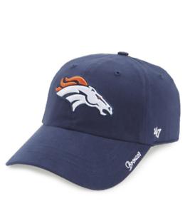 0b79d35137ff3 Denver Broncos 47 Brand Clean Up Adjustable On Field Soft Cotton Hat ...